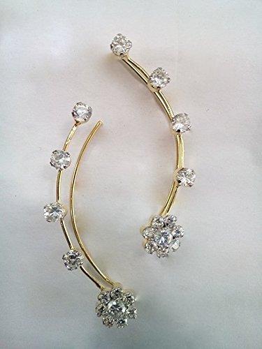 0b27125a7b4c7 Ashiana Exclusive! Ethnic American Diamond ear cuff d5 (pair)