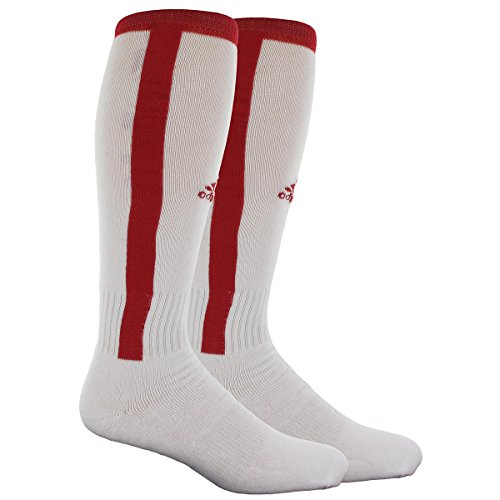 adidas Unisex Rivalry Baseball Stirrup 2-Pack Otc sock, White/University Red, Small