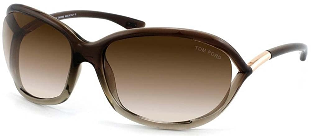 ed56d06f19 Amazon.com  Tom Ford JENNIFER FT0008 Sunglasses TF8 Color 38F Brown  Gradient TF 08  Shoes