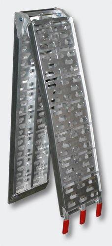 Rampa di carico in alluminio per moto e quad, capacità di carico fino a 340kg, 220x28cm WilTec 30108