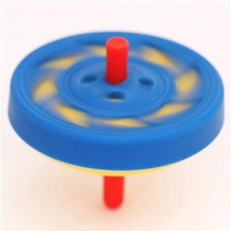 blau-gelber Kreisel Kinderspiel Radiergummi von Iwako aus Japan