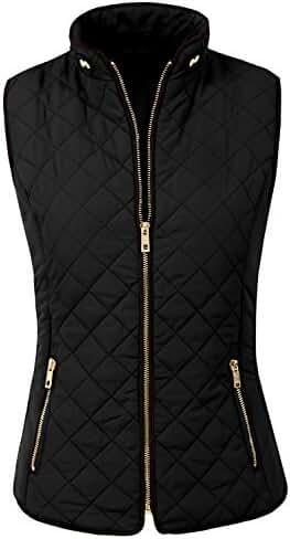 NE PEOPLE Womens Lightweight Quilted Zip Up Vest S-3XL