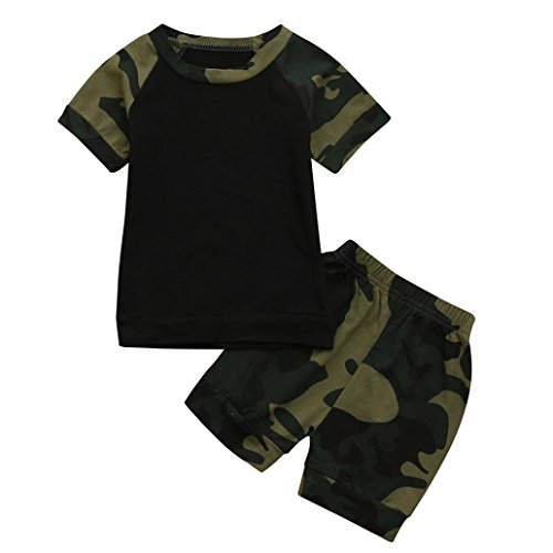 ce59ce289 DIGOOD for 0-24 Months,Toddler Baby Boys Letter Camouflage T-Shirt Tops