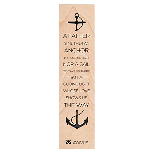 A Father Is Neither An Anchor Nor A Sail - Father's Day Gift Hunting Game of Thrones Anchor Sailing Nautical Reading Gift Birthday Quote Made in USA from AYAVUS