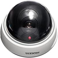 Doradus Dummy Dome CCTV Fake Camera Antitheft Security Store Shop Indoor Outdoor Fake with Red LED