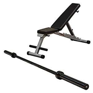 Cuerpo sólido Powerline plegable gimnasio en casa multi-bench prensa w/Olympic Barbell