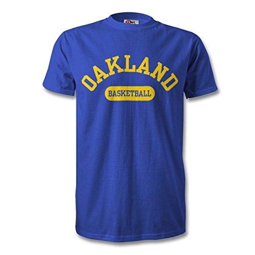 Oakland baloncesto camiseta real/amarillo, azul cobalto, large ...