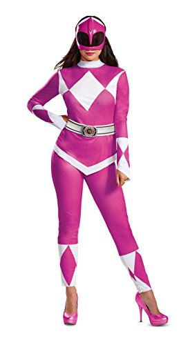 Disguise Women's Pink Ranger Adult Costume, L (12-14)