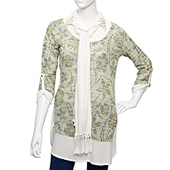Amorite Multi Color Mixed V Neck Blouse For Women