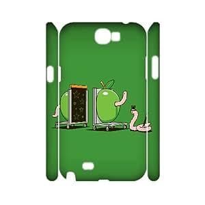 3D Samsung Galaxy Note 2 Case Worm Magic, [White]