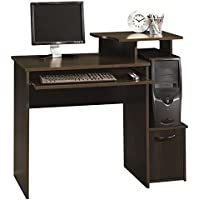 Gerardo Rectangular Computer Desk with Hidden Storage Behind Door Made w/ Manufactured Wood in Cinnamon Cherry Finish 34.02 H x 39.61 W x 19.45 D in.