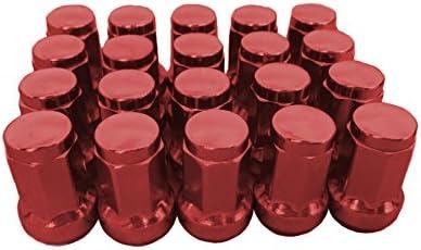 閉じ品質の良い合金鉄ラックホイルナット(7 sides) 33mm M12 * 1.5赤