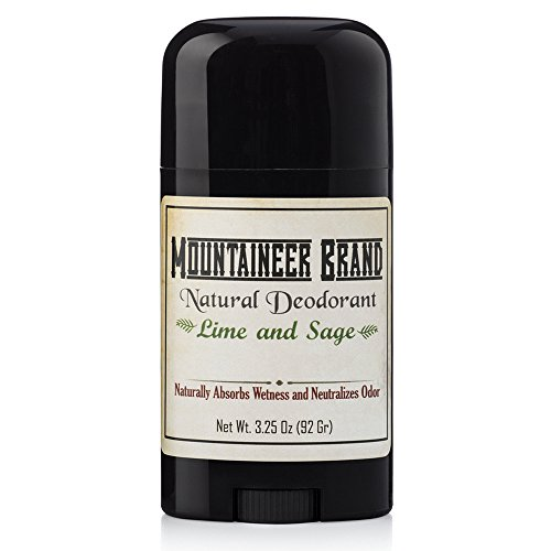 Mountaineer Brand All Natural Deodorant: Lime and Sage--Aluminum Free for Men and Women 3.25 oz