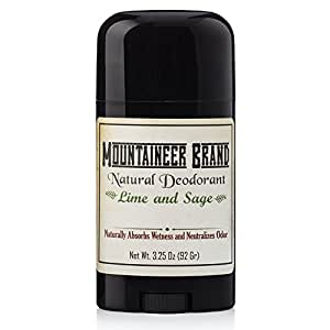 Mountaineer Brand All Natural Deodorant Stick by Mountaineer Brand | Stay Fresh With Safer Ingredients | 3.25 oz (Timber Scent)