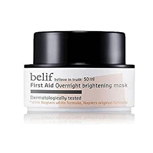 KOREAN COSMETICS, LG Household & Health Care_ belif, First Aid - Overnight Brightening Mask (50ml, healthy complexion, bright skin)[001KR] by belif