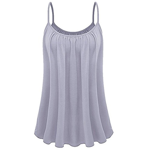 UOKNICE Tops for Women,Beachwear Womens Loose Sleeveless Plus Size Solid Color Cami Basic Camisole Tank Top Vest