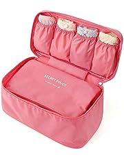 حقيبة انيقة محمولة متعددة الوظائف للسفر لتنظيم ادوات التجميل حقيبة تخزين الامتعة والملابس الداخلية بينك- 2724646309843