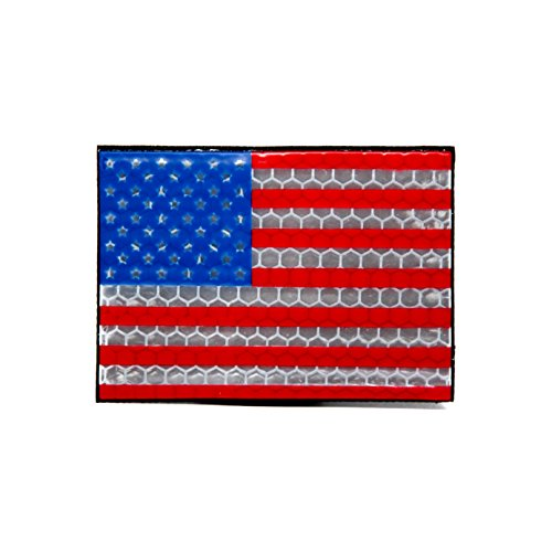 NEO Tactical Gear US Flag High Reflective PVC Morale Patch, Hook Backed Morale ()