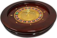 MRC Poker 20-Inch Deluxe High Glossy Wooden Roulette Wheel with Roulette Balls
