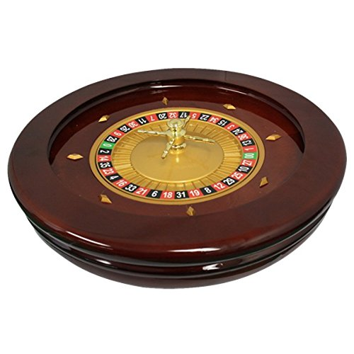 20'' Solid Wood High Glossy Roulette Wheel for Roulette Tables by Mrc Poker
