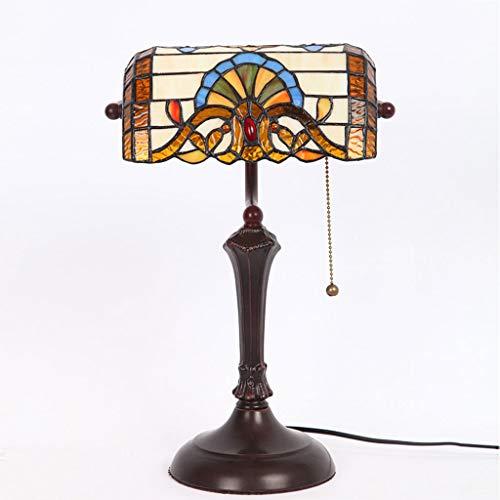 RXY-Lampara de mesa American Retro Study Desk Lamp Lámpara Banco Lámpara Dormitorio Porche Loft Luces