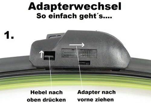 HCL Scheibenwischer Set Satz Premium f/ür Mercedes-Benz CLA-Klasse Shooting Brake BJ 2015-2015