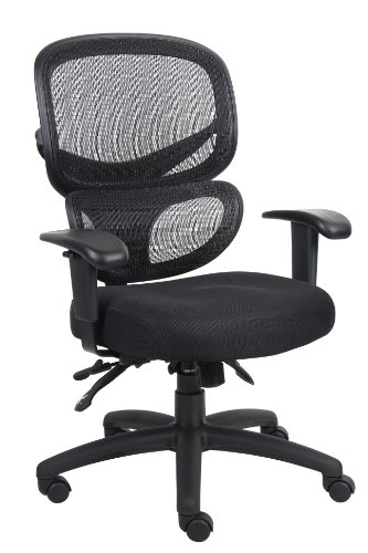 (Boss Office Products B6338 Multi-Function Task Chair in Black)