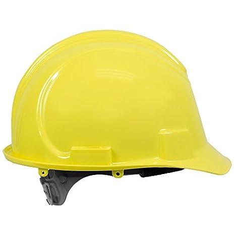 Jackson seguridad 20427 sombrero duro de polietileno de alta densidad de batería con 4 puntos de suspensión de plástico, amarillo (Pack de 12): Amazon.es: ...