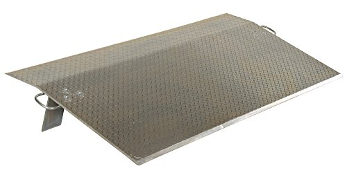 Vestil EH-7230 Aluminum Economizer Dock Plate, 30'' Length, 72'' Usable Width, 1/2'' Plate Thickness, 9,500-lb. Capacity by Vestil
