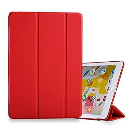 Mcart Synthetic Leather Flip Cover Case for Apple iPad Mini 1 2 3  Cherry Red