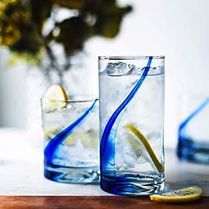 Libbey Blue Ribbon Impressions 16-Piece Tumbler and Rocks Glass Set