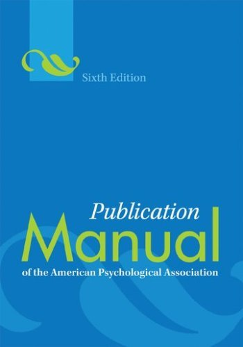 Publication Manual of the American Psychological Association (Publication Manual of the American Psychological Association (Spiral) 6th (sixth) edition (Best Place To Sell Electronics)