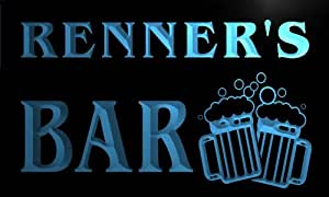 w002448-b RENNER Name Home Bar Pub Beer Mugs Cheers Neon Light Sign