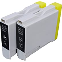 2 Pack Compatible Brother LC-51 2 Black for use with Brother DCP-130-C, DCP-350-C, DCP-540-CN, Fax-1355, Fax-1360, Intellifax 1360, Intellifax 2480C, MFC-240-C, MFC-260-C, MFC-3360-C, MFC-440-CN, MFC-465-CN, MFC-5460-CN, MFC-5860-CN, MFC-665-CW, MFC-685-CW, MFC-845-CW, MFC-885-CW. Ink Cartridges for inkjet printers. LC-51-BK © Zulu Inks