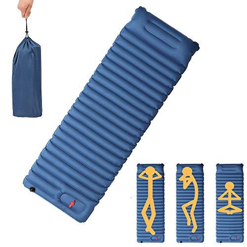 Ayamaya Inflatable Sleeping Pad Mat With Built In Pillow