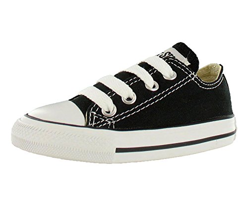 Converse Unisex Child Infant/Toddler Chuck Taylor All Star Ox - Black - 7 TOD