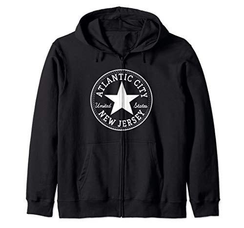 Atlantic City New Jersey USA United States Skater Outfit Zip Hoodie
