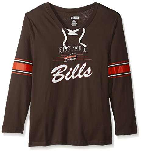 White Cleveland Fleece Browns (NFL Cleveland Browns Women L/S JERSEY  V NECK TEE, BROWN/WHITE, 2X)