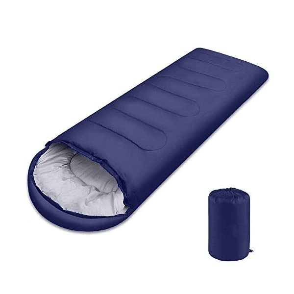 Sleeping Bag, Lightweight 3 Season Weather Sleep Bags for Kids Adults Girls Women, Cotton Hollow Filled 5-20 Degree for Backpacking/Hiking/Naturehike/Camping/Mountaineering with Compression Sack 3