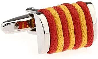 Gemelolandia | Gemelos Cuerda Colores de España Gemelos Originales Para Camisas | Para Hombres y Niños | Regalos Para Bodas, Comuniones, Bautizos y Otros Eventos: Amazon.es: Ropa y accesorios