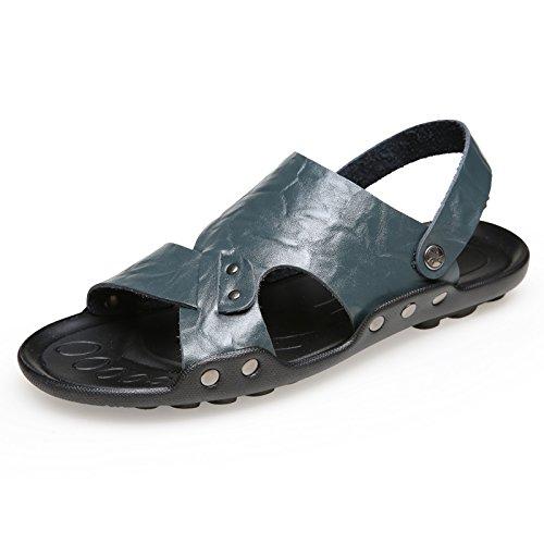 Xing Lin Sandalias De Hombre Los Hombres Zapatillas Macho Marea Antideslizante Sandalias De Playa 4728 Extra Grandes Zapatos Zapatos De Hombre Zapatillas De Verano Al Aire Libre, 38,553 Azul