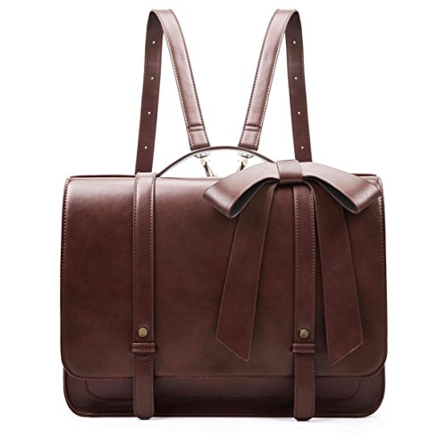 ECOSUSI 14' Laptop Messenger Briefcase Women Vintage Bag Satchels Backpack...
