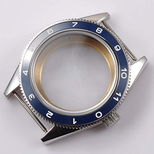 Pukido 41mm Blue Ceramic Bezel Sapphire Cystal Watch Case Fit for 2824 2836 automatic mechanical Movement