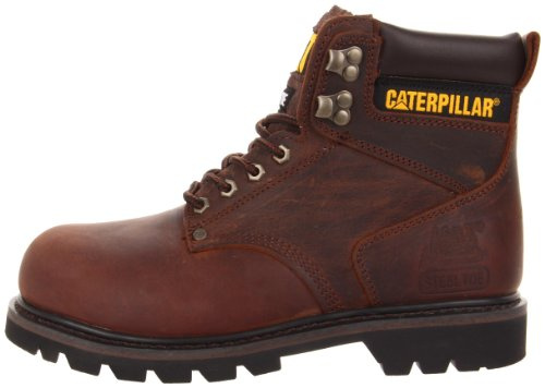 Image of the Caterpillar Men's Second Shift Steel Toe Work Boot,Dark Brown,10 M US