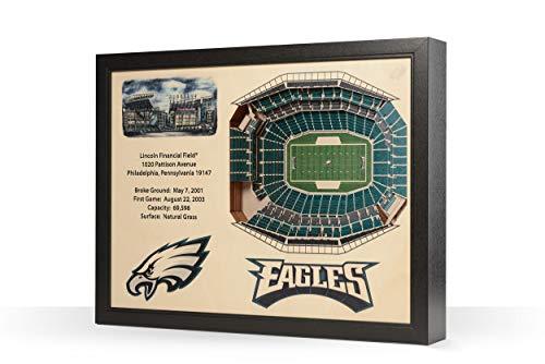 NFL Philadelphia Eagles 25-Layer StadiumView 3D Wall Art, YouTheFan ()