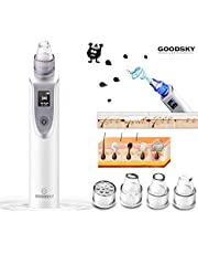 GOODSKY X7 Blackheads Remover, Blue and Red Light Beauty Instrument Facial Skin Care Tools with LED Display