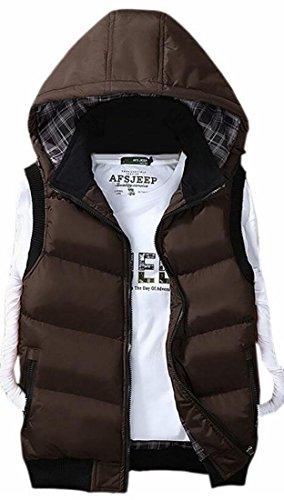 TTYLLMAO Mens Casual Thicken Hooded Down Vest Winter Jacket Outwear 4