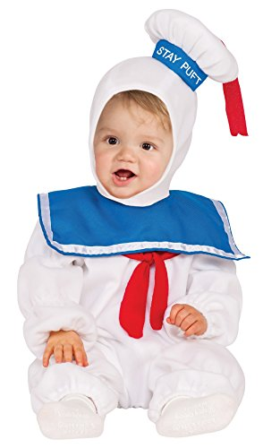 Stay Puft Marshmallow Infant Costume (Rubie's Baby Classic Ghostbusters Ez-on Stay Puft Romper Costume, White, Toddler 2T)