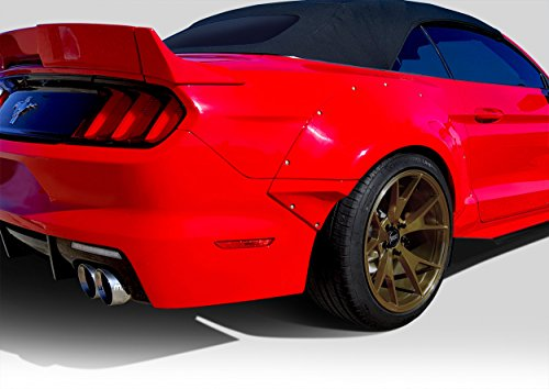 (Duraflex Replacement for 2015-2019 Ford Mustang Grid Wide Body Rear Fender Flares - 4 Piece)