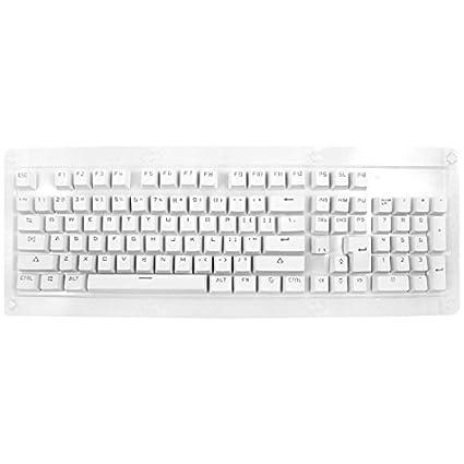 DealMux PBT 104 KeyCaps Chaves Capa protetora Branco 104 em 1 para mecânicos Gaming Teclados